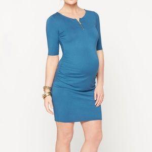 Rachel Zoe elbow sleeve maternity dress cobalt